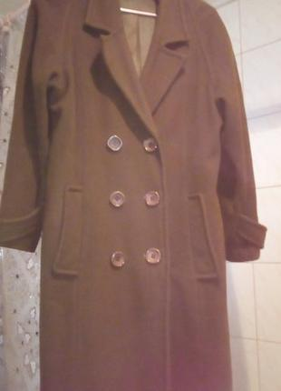 Пальто осеннее кашемировое 48 размер