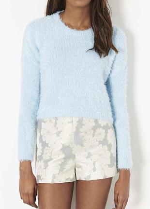 Укорочённый свитер травка
