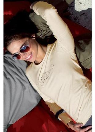 Светло-бежевая футболка с длинным рукавом, хлопок, s, м, польша.