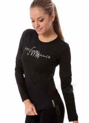 Черная футболка с длинным рукавом, хлопок, m,  польша.