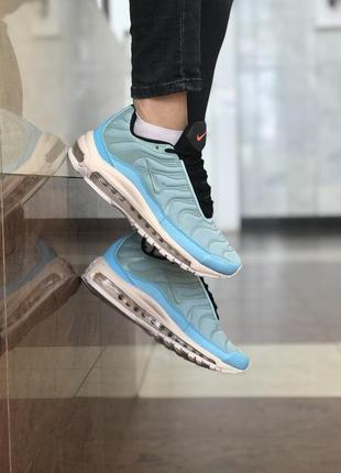 36 37 38 39 40 шикарные женские кроссовки nike air max 97 plus mint blue  купить 3678baedba541