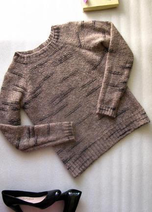 Повседневный шерстяной свитер кофта джемпер лонгслив на осень/зиму с мохером италия  s