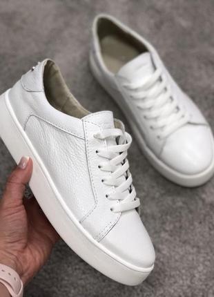 Кеды белые кожаные8 фото