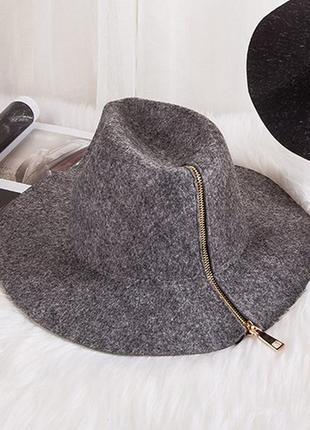 Весенне-осенняя шляпа федора с молнией 13141