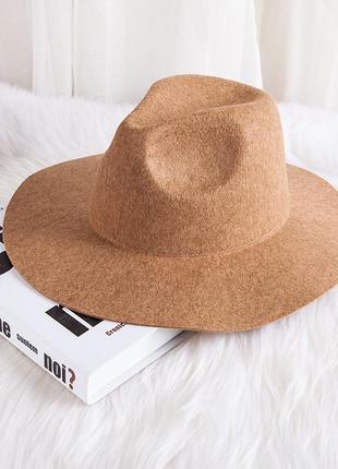 Стильная весенне-осенняя шляпа федора 13142