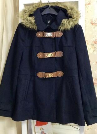 Стильный синий дафлкот/пальто большого размера от atmosphere