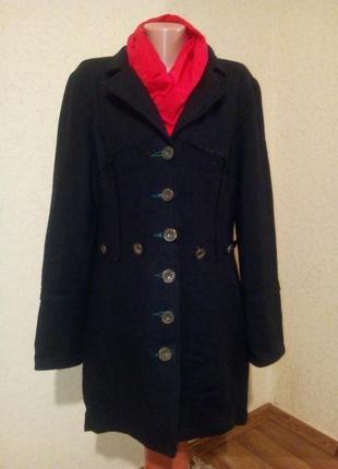 Стильное пальто плащ шерсть 60% пог 56