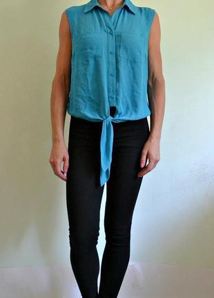 Новая бирюзовая блуза 10