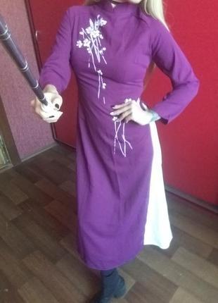 Новое двухслойное платье в японском стиле