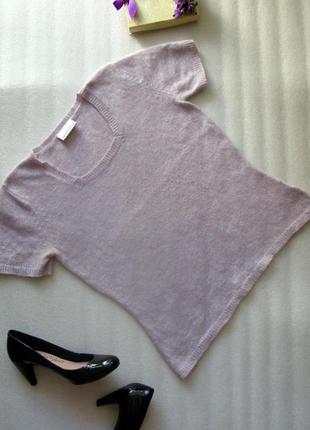 Мягкая шерстяная теплая кофта топ джемпер на осень/зиму с ангорой и шерстью ягненка  l-xl