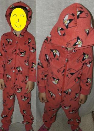 Next слип angry birds кигуруми человечек пижама домашний костюм комбинезон