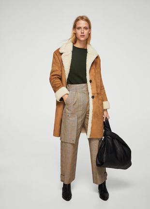 Дубленка пальто зима mango m-l