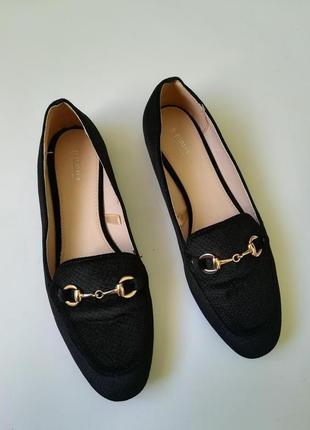 Туфли-лоферы из бархатной ткани