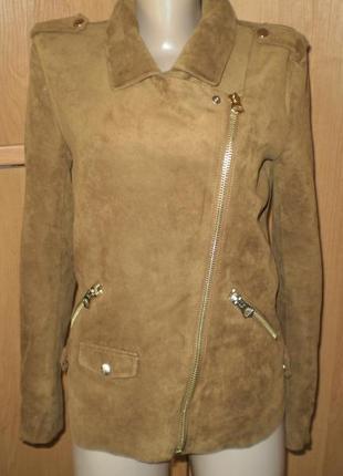 Шик!! крутая куртка- косаха под замшу от h&m р. 36