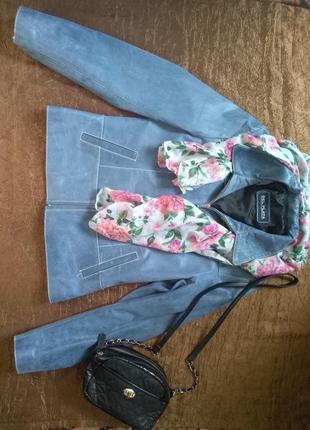 Пиджак женский кожаный фирма del plata зделаный в аргентине