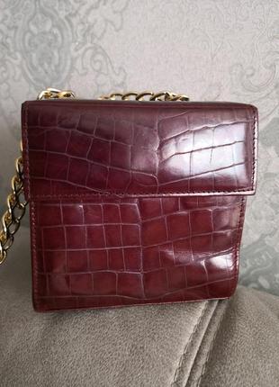Мега стильная винтажная кожаная сумочка vivienne accessories wien