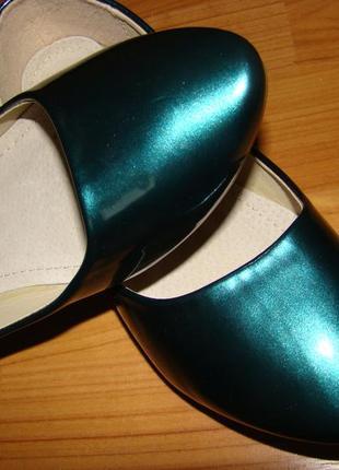 Изумрудные балетки туфли sopra