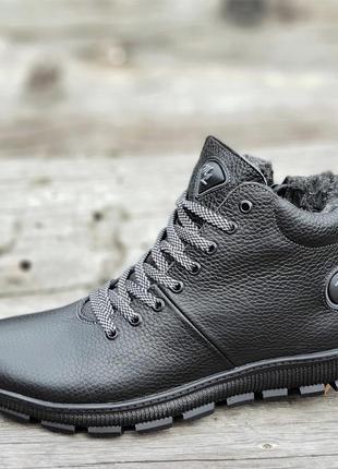 Ботинки подростковые зимние кожаные 36-39р