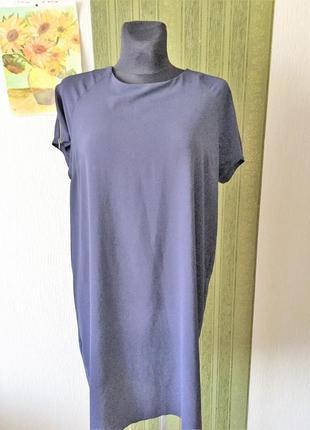 Платье /туника тёмно-синего цвета  с замками