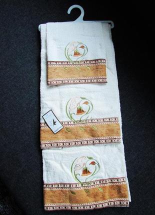 Набор махровых полотенец + бесплатная доставка