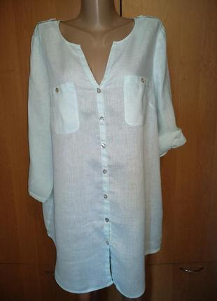Великолепная рубашка туника лён