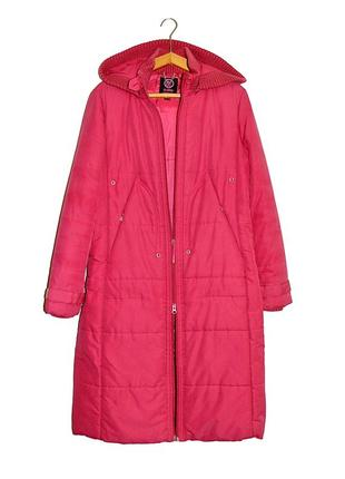 Зимнее пальто с капюшоном mango