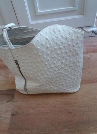 Кожаная сумка-рюкзак из кожи страуса borze in pelle италияl