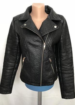 Куртка-косуха плотная из искусственной кожи select