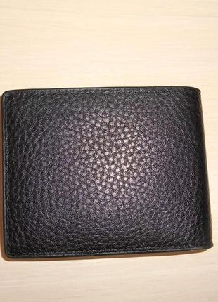 Мужской кошелек, портмоне, бумажник mont blanc, кожа, италия 99113