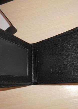 Мужской кошелек, портмоне, бумажник mont blanc, кожа, италия 99115
