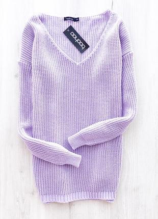 Крутий оверсайз светрик \ крутой лавандовый сиреневый оверсайз свитер boohoo