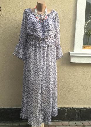 Платье,открытые плечи,воланы,рюши,этно,деревенский,бохо стиль,большой размер