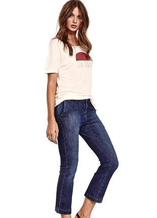 Брендовые женские голубые коттоновые джинсы mos mosh турция этикетка