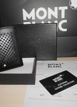 553d5948a471 Мужской кошелек, портмоне, бумажник mont blanc, кожа, италия 69-8002