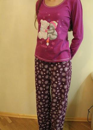 Пижама, домашний костюм тедди на размер s, george