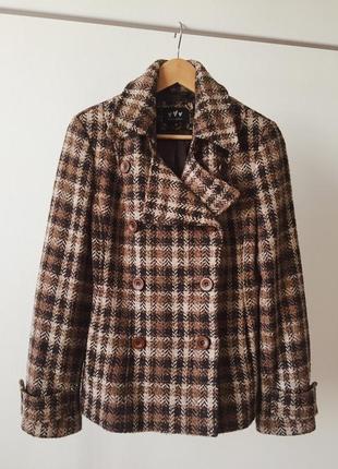 Красивое стильное твидовое пальто marks&spencer