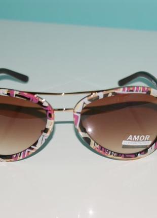 Kрасивые женские солнцезащитные очки капельки amor