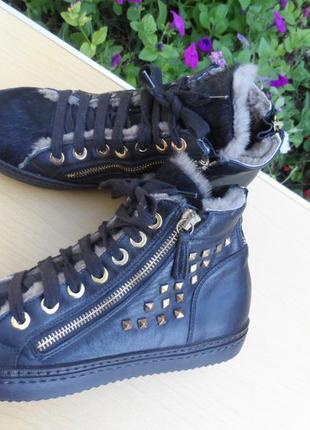 Зимние ботинки кеды federyca / италия