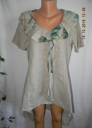 Оригинальная блуза - туника лен италия