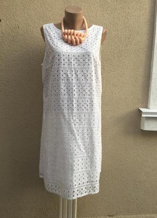 Белое,кружевное платье,сарафан,хлопок100%,большой размер