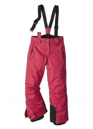 Лыжный мембранный термо-комбинезон, штаны на девочку crivit sports, германия, р.134-140
