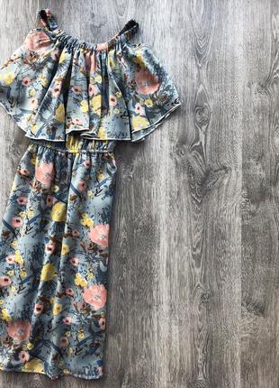 Сукня/ платья в принт на плечі