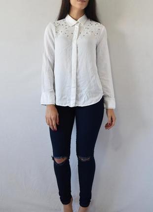 Блузка с бусинами zara