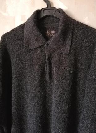 100% alpaca!!! джемпер-пуловер clark ross   р.xl--xxxl