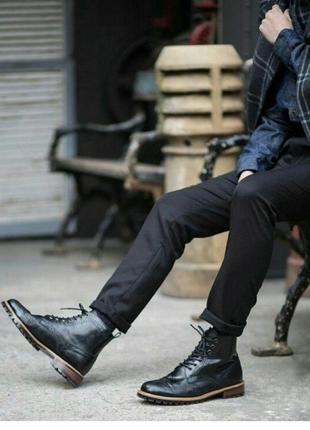 Новые стильные кожанные мужские ботинки из сша на весну/зиму