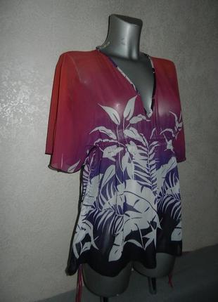 Xs/36 atmosphere стильная пляжная туника платье парео новая
