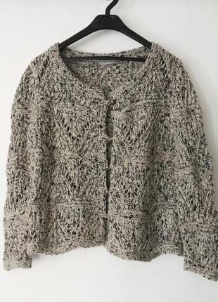 Кардиган из шерсти, шерстяной свитер на пуговках