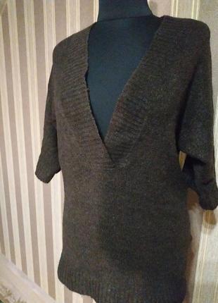 Классный мягкий свитер, шоколадного цвета, размер 42-44