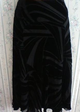 Шелковая юбка панбархат, разм 44