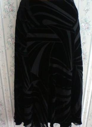 Шелковая юбка панбархат, разм 441 фото